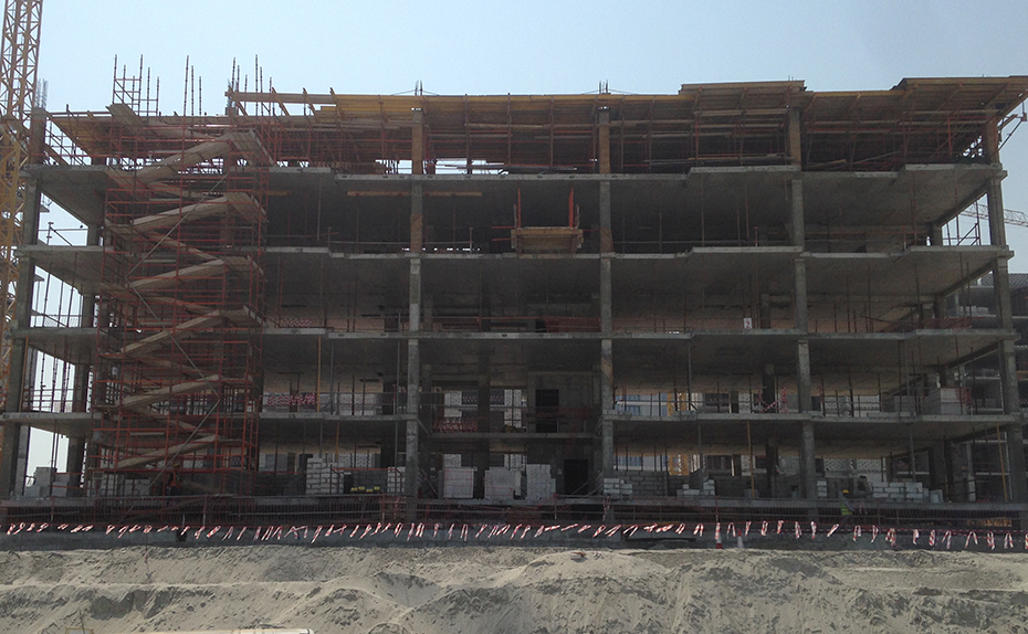 Building A -5th Floor Slab works in progress