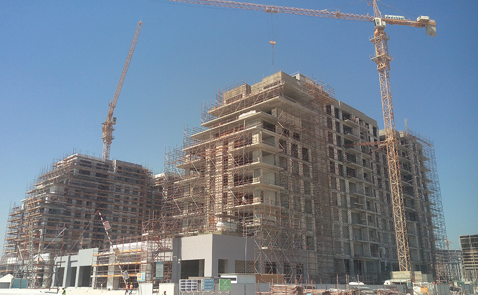 East Elevation- Preparation for Facade works is in progress