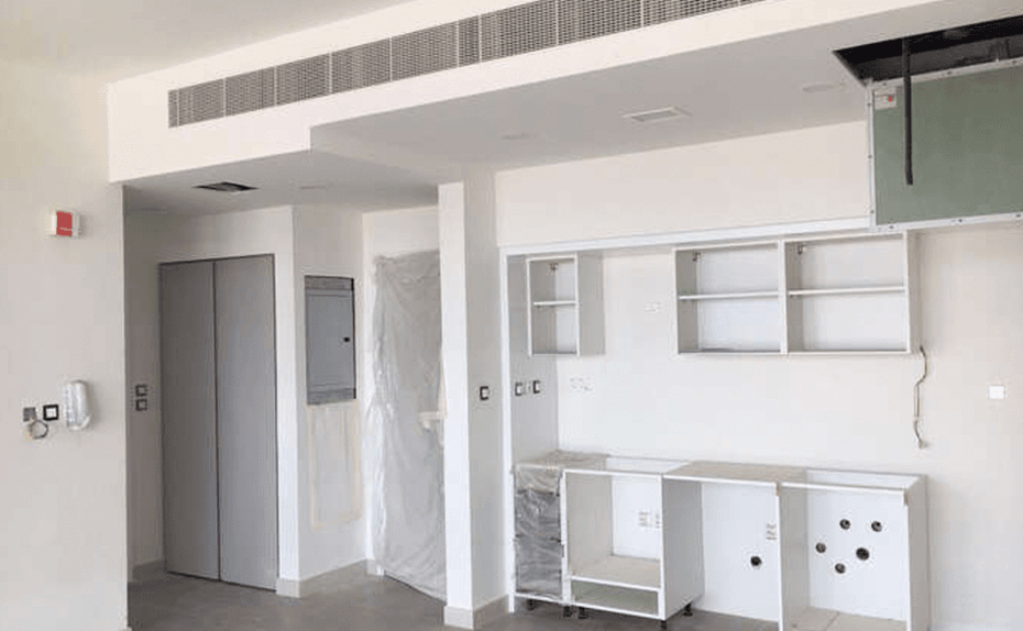Marassi Residences - Internal fit out progress showing kitchen unit installation, April 2018