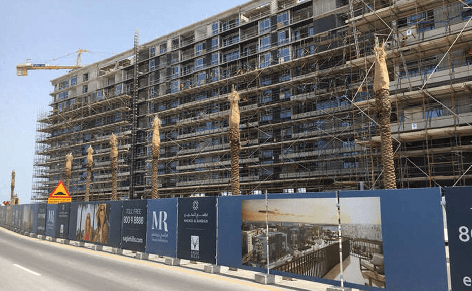 Marassi Residences - North and south tower elevation on Marassi Boulevard side, April 2018