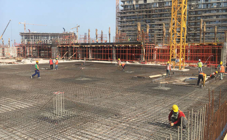 Podium slab – Marassi Boulevard - Ground floor works in progress, April 2018