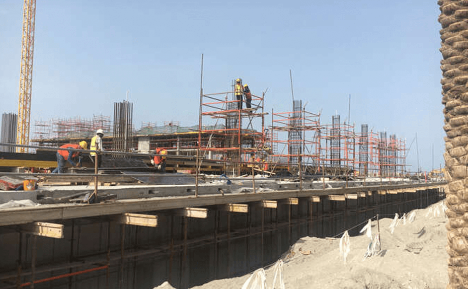 Building C – Marassi Boulevard - Level 1 works in progress, April 2018