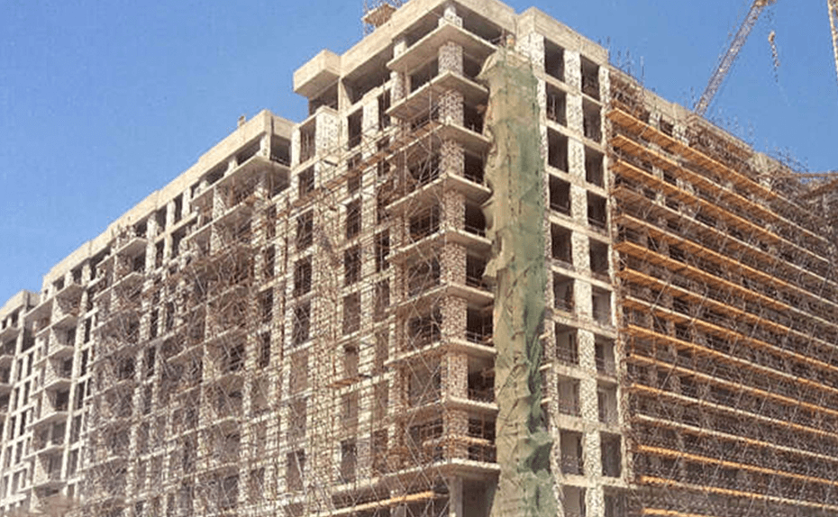 MARASSI SHORES RESIDENCES - Block works up to level 10 completed, level 11 in progress, July 2018
