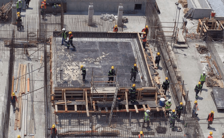 MARASSI RESIDENCES - PODIUM LEVEL 2 IN PROGRESS, VIEW 2 - AUGUST 2018