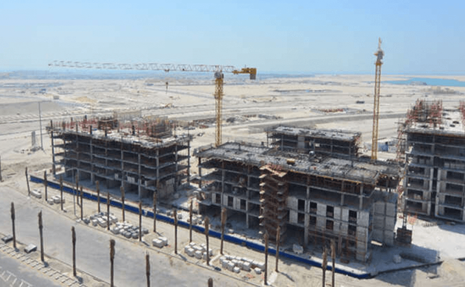MARASSI BOULEVARD – building A, B, C & D structure works in progress, July 2018