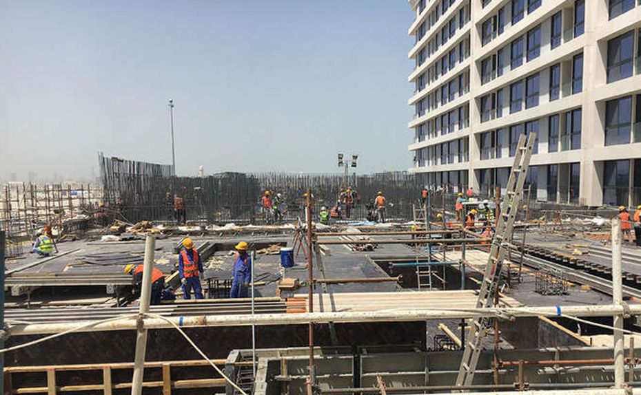 MARASSI RESIDENCES - Podium level 2 in progress, July 2018