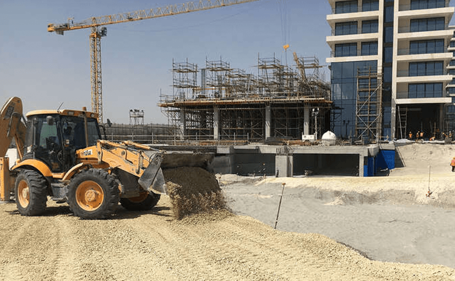 MARASSI RESIDENCES - Entrance road backfilling and sub base into basement car park, July 2018