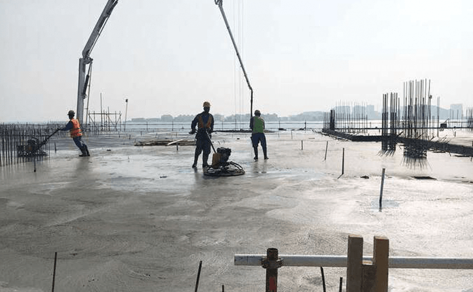 Casting PT Slab at level 2 for Marassi Shores Residences November 2017