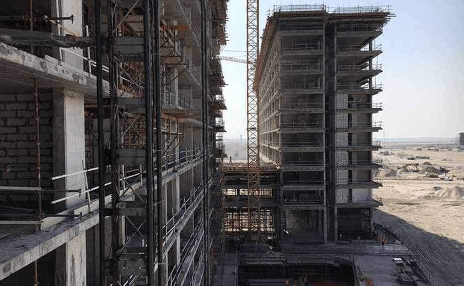 North and south tower superstructure for Marassi Residences November 2017