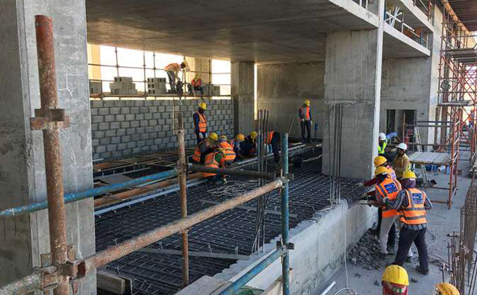 Ground floor substation concreting for Marassi Residences November 2017