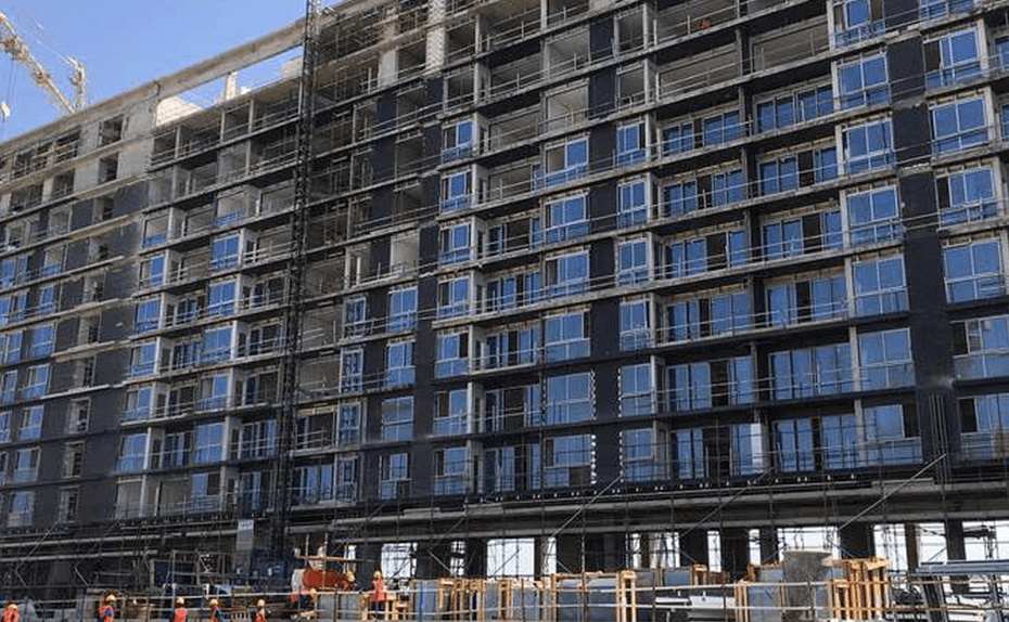 Marassi Residences - Glazing progress on Marassi Boulevard road side, February 2018