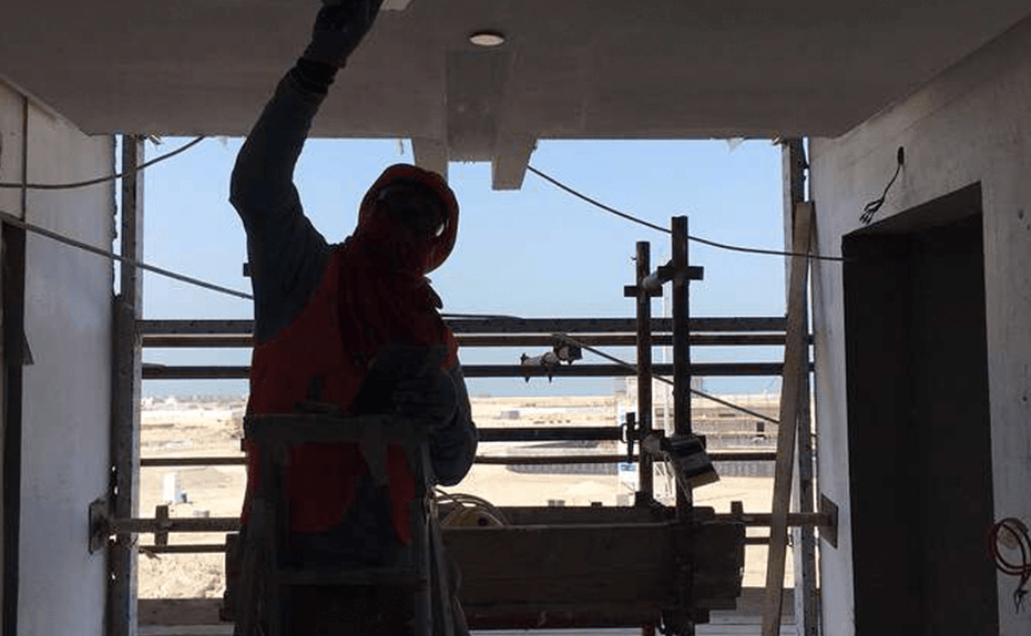 Marassi Residences - Lift lobbies ceiling progress, February 2018