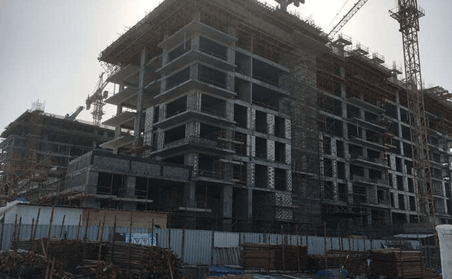 Marassi Shores Residences - East elevation – External works in progress, March 2018
