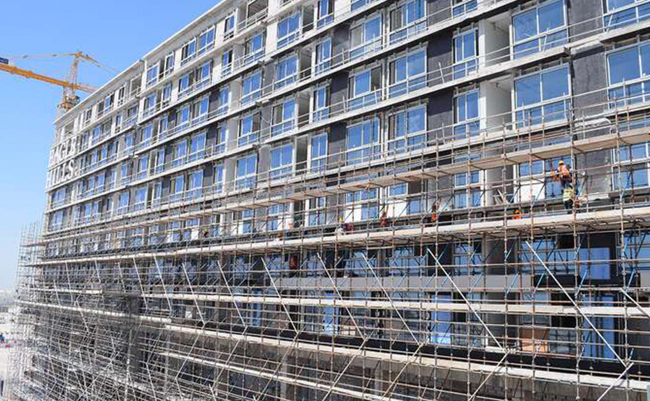 Marassi Residences - North tower external elevation showing glazing progress, March 2018