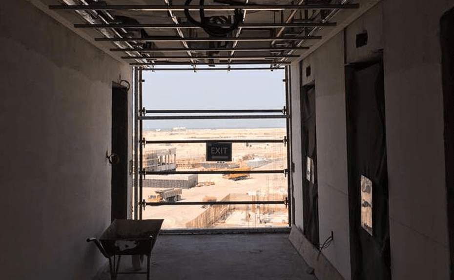 Marassi Residences - Lift lobbies – Ceiling grid progress, February 2018