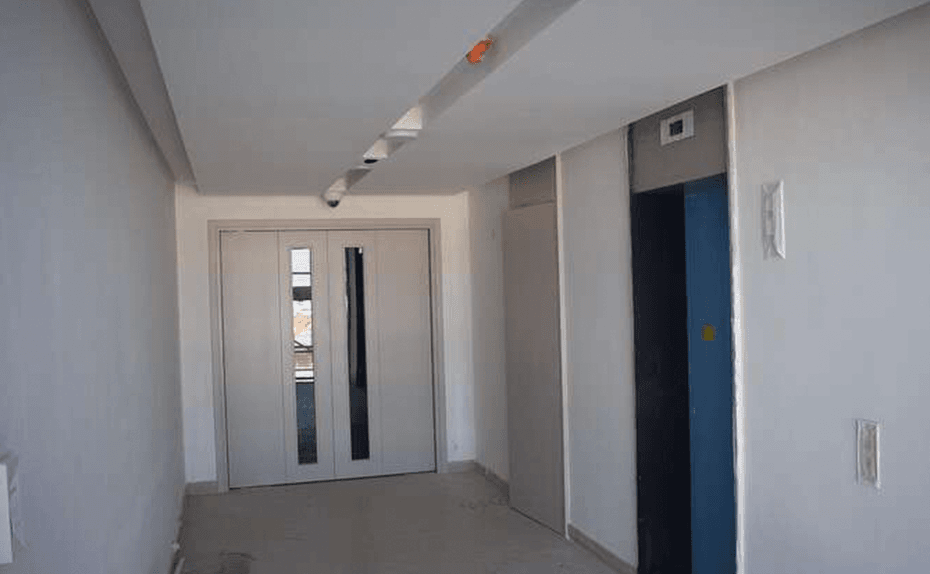 Marassi Residences - Internal lift lobby fit-out works showing closed ceilings, March 2018