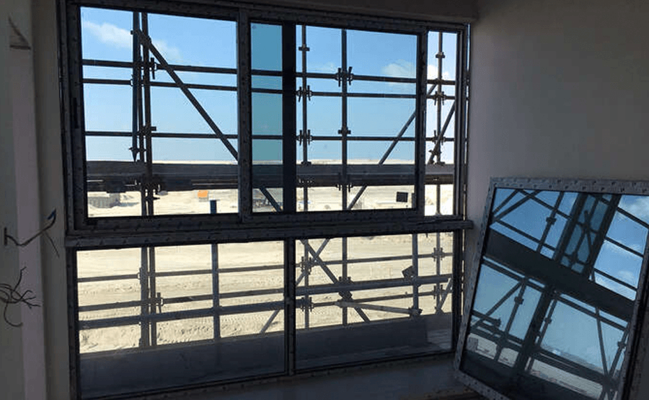 Installation of glazing and tiling completed at Marassi Residences Level 1, December 2017