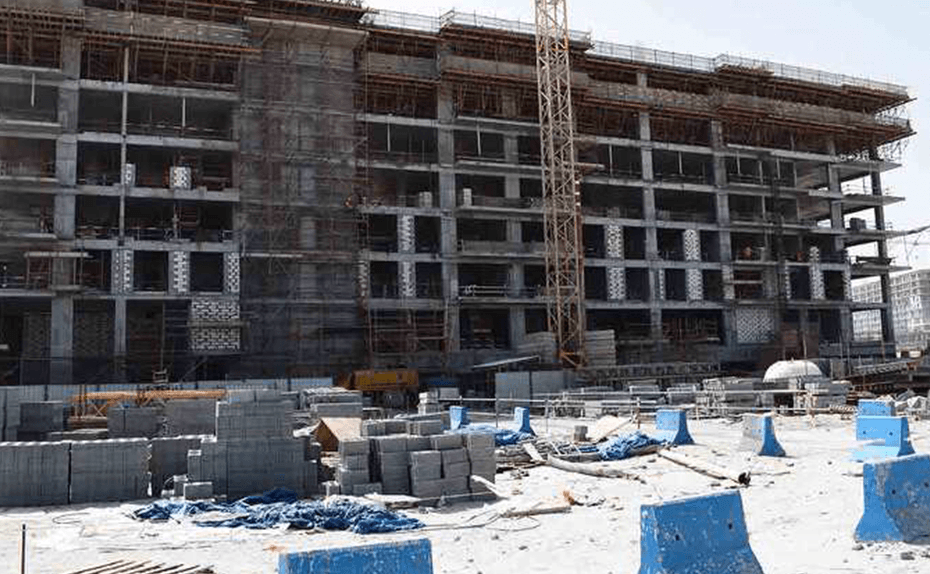 Marassi Shores Residences - East Elevation – Structure up to Level 8 completed, February 2018