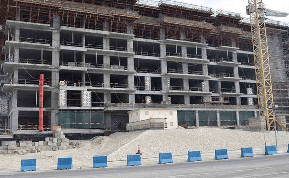 Marassi Shores Residences - West Elevation- Structure up to Level 8 completed, February 2018