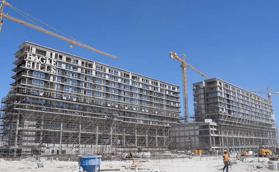Marassi Residences - Glazing in progress - mall side elevation, March 2018