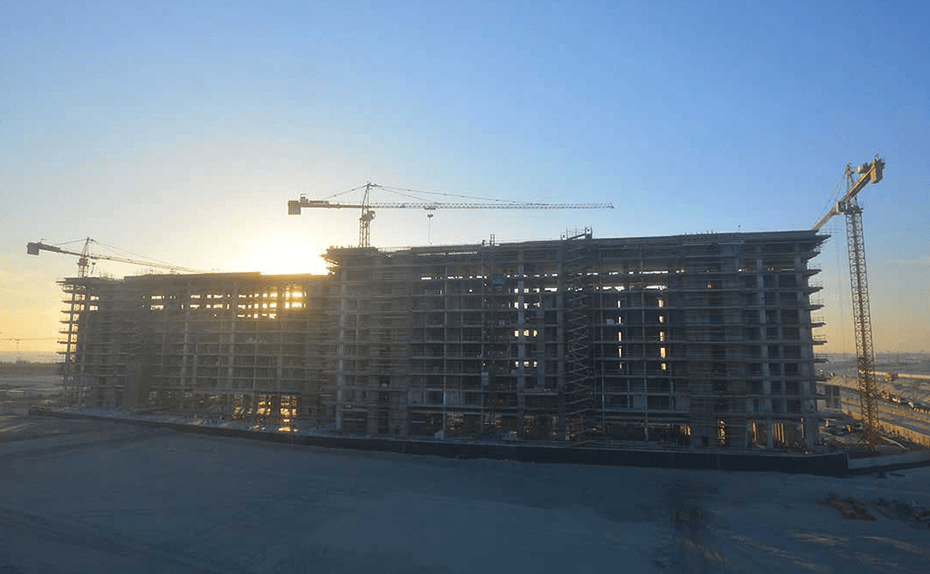 NBR (Marassi Residences) superstructure completed (both towers) for Marassi Residences November 2017