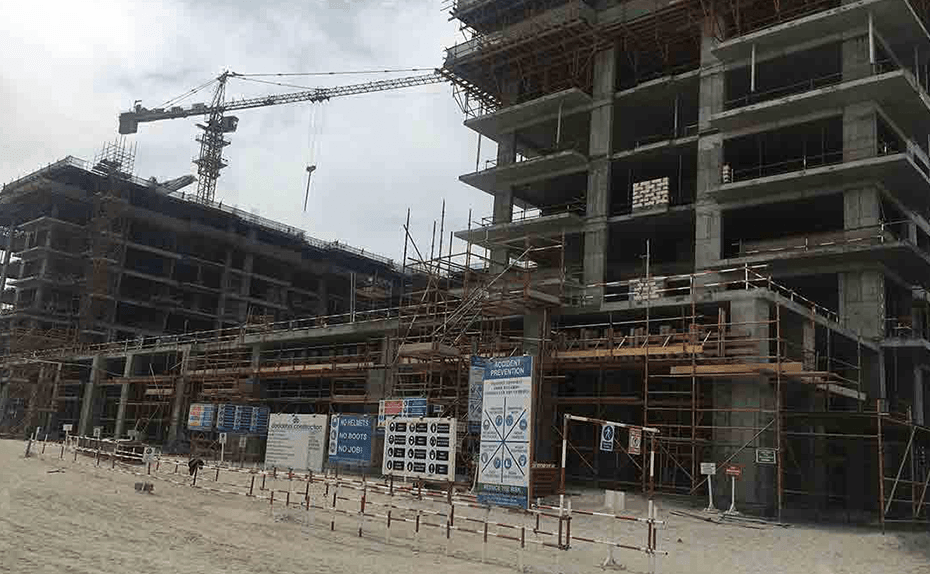 Marassi Shores Residences - Retail Units- Façade civil works in progress, February 2018