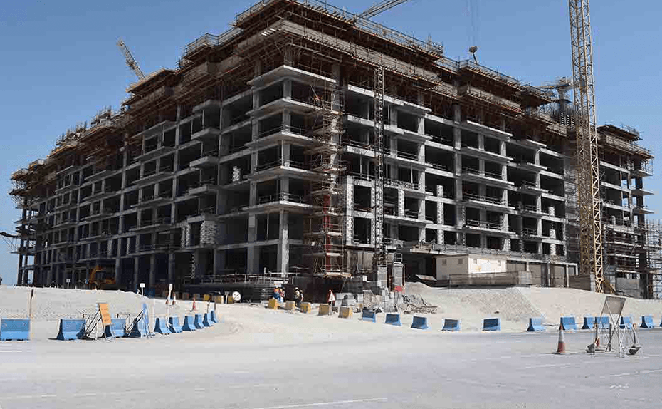 Marassi Shores Residences - North-West Elevation- Structure up to Level 8 completed, February 2018