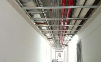 Common corridors– Electro-Mechanical works completed, inspection is in progress prior to ceiling closer.