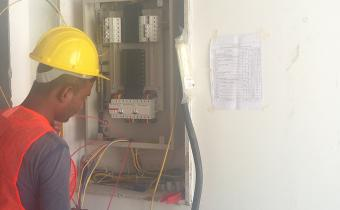 Electrical work – Installation of Distribution Boards is in progress in individual apartments