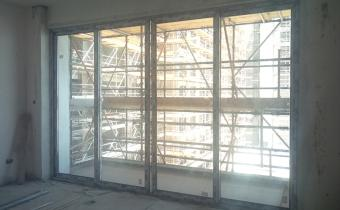 Installation of Sliding Doors towards the Balconies are in progress in individual apartments, September 2018