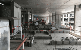 Marassi Shores Residences - Partition walls in progress, April 2018