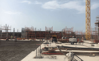 Building A – Marassi Boulevard - Ground floor works in progress, April 2018