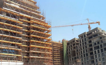 MARASSI SHORES RESIDENCES - Aluminum façade works in progress, July 2018