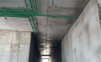 MARASSI BOULEVARD - Water supply piping works at building-B in progress, July 2018