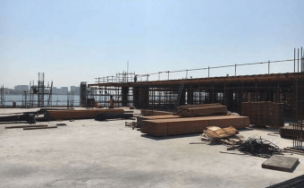 Level 2 slab works in progress October 2017