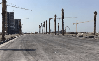 Marassi Residences - Customer journey road looking towards Marassi Residences, February 2018
