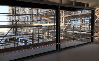 Marassi Residences – Aluminum framing installation – north tower, January 2018