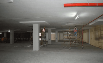 Marassi Shores Residences - Basement painting works in progress, January 2018
