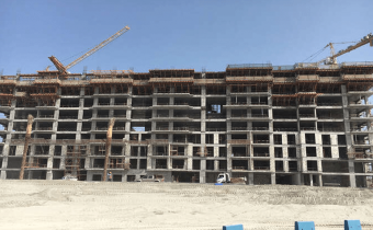 Marassi Shores Residences - North-west elevation - Structural works in progress at level 10, March 2018