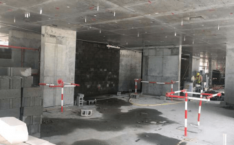Marassi Shores Residences - Level 4 – Partition walls/Block works in progress, February 2018