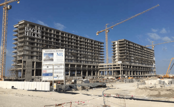 External elevation of north and south tower – Marassi Residences, December 2017