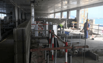 Marassi Shores Residences - Level 5 - Partition walls in progress, March 2018