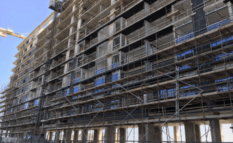 Marassi Residences – Glazing installation at south tower, January 2018