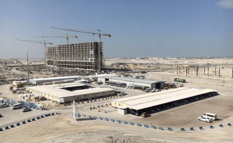 Marassi Residences – Site compound and Marassi Residences towers, January 2018
