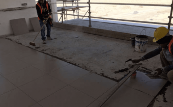 Marassi Residences – Tiling installation, January 2018