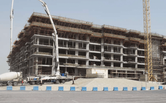Marassi Shores Residences – West elevation – Level 7 slab being cast, January 2018