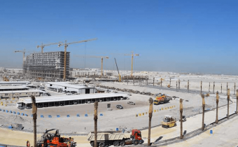 New customer journey access road towards Marassi Residences, March 2018