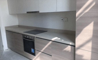 Kitchen installation progress at mock up unit for Marassi Residences November 2017