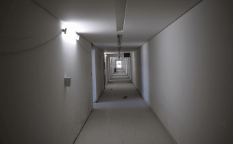 Marassi Residences - Internal corridor fit-out works showing closed ceilings, March 2018