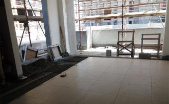 Building A: Floor tiling works, March 2019